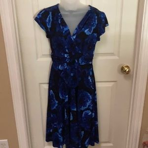 Blue & Black floral dress